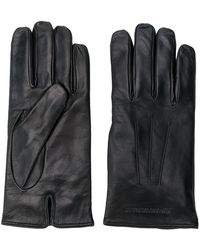 Emporio Armani - Embossed Logo Gloves - Lyst
