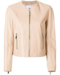 Dondup - Cropped Leather Jacket - Lyst