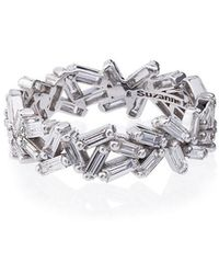 Suzanne Kalan - 18k White Gold Sparkler Eternity Band - Lyst