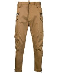 DSquared² - Zip-detail Fitted Trousers - Lyst
