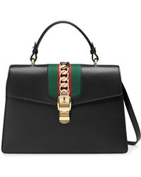 Gucci - Sylvie Leather Top Handle Bag - Lyst