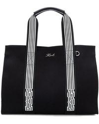Karl Lagerfeld - K Stripes Tote - Lyst