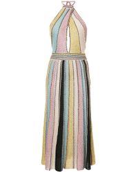 M Missoni - Striped Flared Midi Dress - Lyst