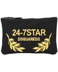 DSquared² - 24-7 Star Clutch Bag - Lyst