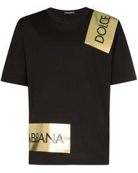Dolce & Gabbana Logo tape T-Shirt - Noir