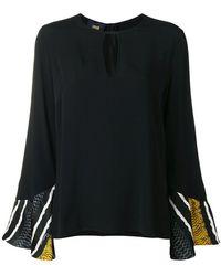 Class Roberto Cavalli - Striped Sleeves Blouse - Lyst