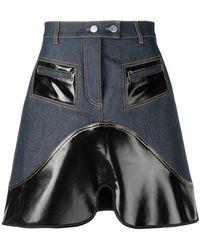Ellery - Vontz Denim Mini Skirt - Lyst