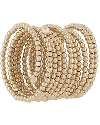 Y. Project - Beaded Spiral Cuff - Lyst