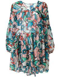Tsumori Chisato - Short Printed Dress - Lyst