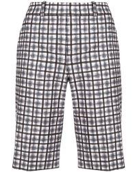 Michael Kors - Check Bermuda Shorts - Lyst