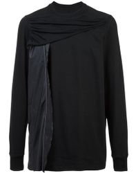 Rick Owens - Draped Panel Sweatshirt - Lyst