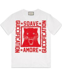 "Gucci - ""soave Amore Fication"" Print T-shirt - Lyst"