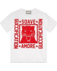 "Gucci | ""soave Amore Fication"" Print T-shirt | Lyst"