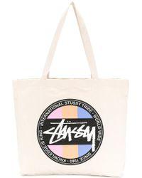 Stussy - Logo Shopper Tote - Lyst