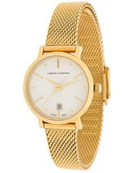 Larsson & Jennings - Lugano Aurora Gold Milanese 26mm Watch - Lyst