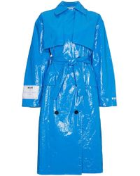 MSGM - Oversized Pvc Trench Coat - Lyst