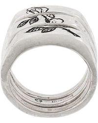 Henson - Engraved Rose Split Ring - Lyst