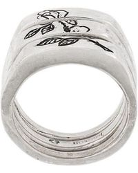 Henson - Engraved Rose Split Ring - Lyst