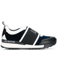 Love Moschino - Logo Contrast Sneakers - Lyst