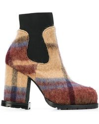 Sacai - Check Ankle Boots - Lyst