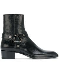Saint Laurent - Wyatt 40 Harness Boots - Lyst
