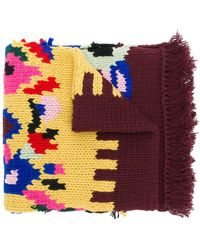 Prada - Patterned Knit Scarf - Lyst