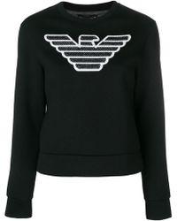 Emporio Armani - Logo Design Sweatshirt - Lyst
