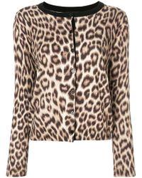 Twin Set - Leopard Print Cardigan - Lyst