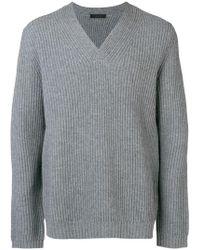 Falke - V Neck Knit Sweater - Lyst