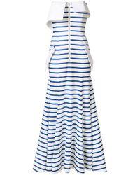 Natasha Zinko - Striped Jersey Bandeau Gown - Lyst