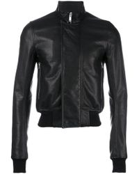 Rick Owens - Cropped Bomber Jacket - Lyst