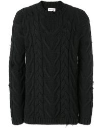 Palm Angels - Distressed Cable Knit Jumper - Lyst