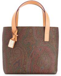 Etro - Paisley Print Square Tote Bag - Lyst