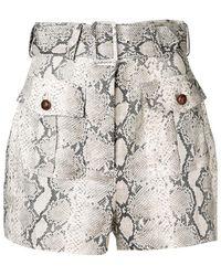 Zimmermann - Shorts Corsage Safari de lino - Lyst