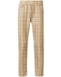 Sunnei - Checked Straight-leg Trousers - Lyst
