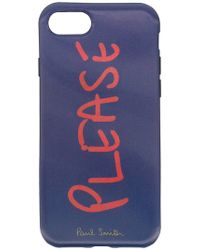 Paul Smith Black Label - 'Please' iPhone 6-Hülle - Lyst