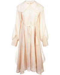 Renli Su - Oversized Collar Babydoll Dress - Lyst
