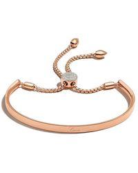 Monica Vinader Fiji Diamond Toggle Bracelet - Pink