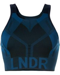 LNDR - Logo Print Compression Cropped Top - Lyst