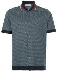 835e7c1d Cerruti 1881 Contrast Collar Polo Shirt in Blue for Men - Lyst
