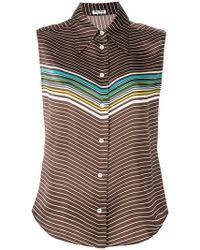Miu Miu - Paneled-sleeved Blouse - Lyst