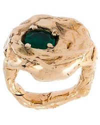 Alice Waese - 'terra' Ring With Emerald - Lyst