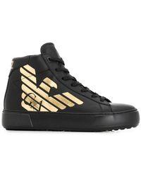 e2c804baa Lyst - Gucci Contrast Combo High-top Sneaker in Black