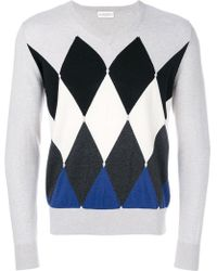 Ballantyne | Argyle Pattern Knit Sweater | Lyst