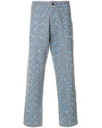 Telfar - Embroidered Jeans - Lyst