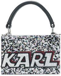 Karl Lagerfeld - Glitter Minaudiere Handbag - Lyst