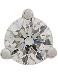 Delfina Delettrez - Pendiente Dots en oro blanco 18kt con diamante solitario - Lyst