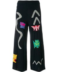 Peter Pilotto - Intarsia Knit Trousers - Lyst
