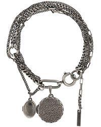 Ann Demeulemeester - Locket Charm Multi Chain Bracelet - Lyst
