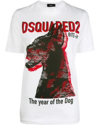 DSquared² - The Year Of The Dog Print T-shirt - Lyst